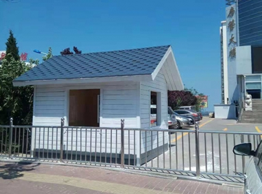 萊山不動產不鏽鋼護欄及防腐木崗亭